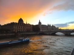 Sunset near Notre Dame